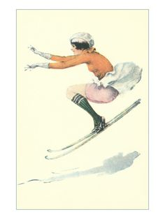 Graceful Lady Skiing Moguls Photo
