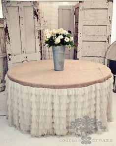 Chichi Ivory Petal And Jute Tablecloth, Ivory Petals U0026 Jute Tablecloth,  Tulle And Jute Tablecloth, Wedding Cake Tablecloths