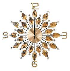 Wanduhr Gold Uhr Modern Style Design Kristalle Sunburst Q... Https://
