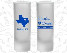 Texas Wedding, Frosted Shooter Glasses, Destination Wedding, State Wedding (142)