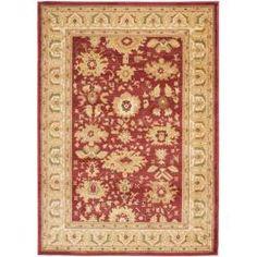 Safavieh Oushak Red/ Cream Powerloomed Rug (9'6 x 13')   Overstock.com Shopping - The Best Deals on 7x9 - 10x14 Rugs