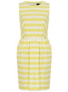 Dorothy Perkins Lemon Stripe Dress | What to Wear to a Wedding Cocktail Dresses #weddingattire #weddingdresscode #weddingseason