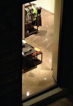 Our marble in a well-know clothing store at Florence.