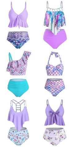 Rosegal violet summer bikini, travel must have cute bathing suit, swimsuit for girl 2020 fashion summer beachwear #Rosegal #bathingsuit #bikini #swimsuit #beachwear #girl #violet Summer Bathing Suits, Girls Bathing Suits, Vintage Swimsuits, Cute Swimsuits, Summer Outfits For Teens, Summer Bikinis, Beach Wear, Violet, Girl Outfits