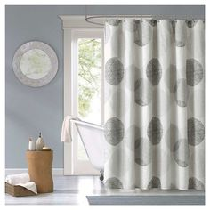 Cabrillo Geometric Print Microfiber Shower Curtain - Grey : Target @golddeer - superb zen vibe for the North or Northeast