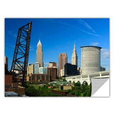 ArtApeelz 'Cleveland 13' by Cody York Photographic Print Removable Wall Decal