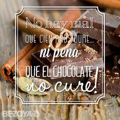 No hay mal que cien años dure, ¡ni pena que el chocolate no cure! #bezoya, dulce, postre, cocina, receta, comida, comer, foodie, gastronomía