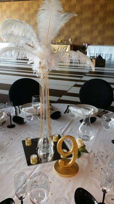 Decoracion mesa para boda años 20