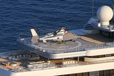 General views of Roman Abramovich's $485 million mega yacht Eclipse constructed by Blohm + Voss.