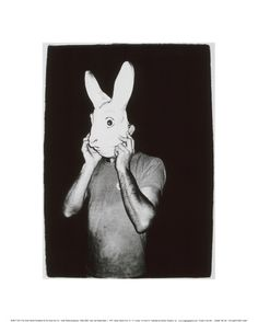 andy warhol / man with rabbit mask