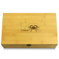 Cancer Whats Your Sign Multikeep Box Sustainable Organizer Honey Colour, Junk Drawer, Mild Soap, Wood Boxes, Small Gifts, Bamboo Cutting Board, Cleaning Wipes, Sustainability, Hardwood