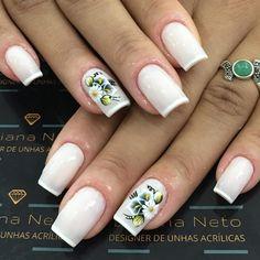 Models of French Decorated Nails Designs For 2018 - Fashionre Fake Gel Nails, Toe Nails, Korea Nail Art, Couture Nails, Beautiful Nail Polish, Minx Nails, Nail Tutorials, French Nails, Nail Arts