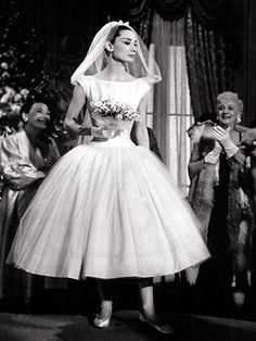 Audrey Hepburn Wedding Dress In Funny Face Boda