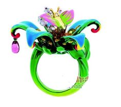 So.Much.Fun!  Dior New Milly Carnivora Series Finger Ring  That color and the drop...so cool.