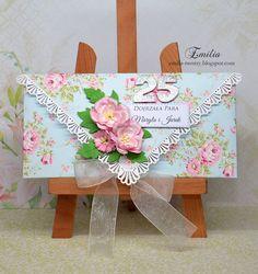 Emilia tworzy: Kopertówka z okazji 25 rocznicy ślubu/Card form wedding anniversary