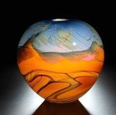 john heather fields | glass vase created by Portland Oregon artists John and Heather Fields ...