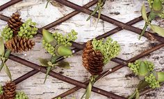 Acorn and Pine Cone Boutonnieres