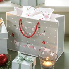Gift Bag Christmas Dogs - Small