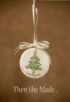 Personalized Christmas Tree Ornament by Thenshemade on Etsy