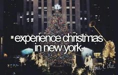 Experience Christmas in New York!  #1 on my Bucket List! Where Kevin proposed!!