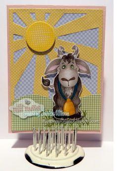 Little Miss Muffet Stamps Old Billy Goat #lmms, #littlemissmuffetstamps, #digitalstamps