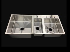 Triple Bowl Stainless Undermount Sink - Click to Enlarge