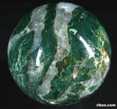 Green Zebra Jasper Crystal Ball