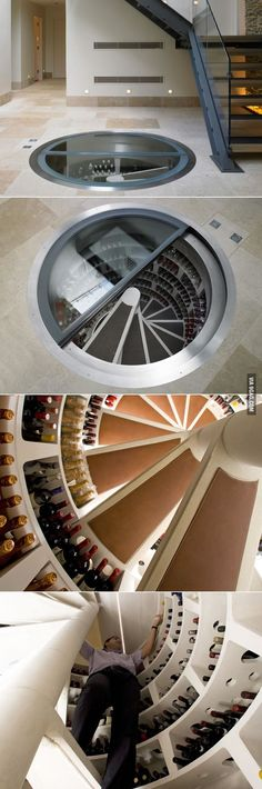 Dream Wine Cellar.    All they need is some custom monogrammed wine glasses and stemware from Crystal Imagery! http://www.crystalimagery.com