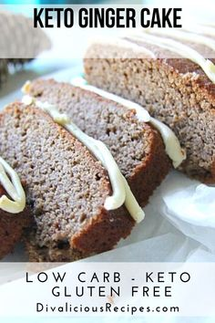 A keto ginger cake that is light in texture and flavoured with warm spices. A keto ginger cake that is light in texture and flavoured with warm spices. Desserts Keto, Keto Friendly Desserts, Gluten Free Desserts, Dessert Recipes, Keto Snacks, Cake Recipes, Dinner Recipes, Ketogenic Recipes, Low Carb Recipes
