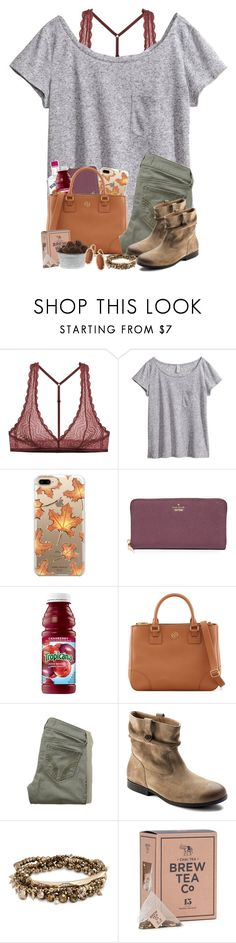 """""""Burning bridges, crossing lines"""" by taylormaccallister ❤ liked on Polyvore featuring Cosabella, H&M, Casetify, Kate Spade, Tory Burch, Hollister Co., Birkenstock and Kendra Scott"""