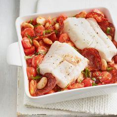 LOVE life Cod, chorizo and butterbean stew