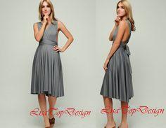 Dark Gray prom Dress Short Bridesmaid Dresses by LisaTopDesign