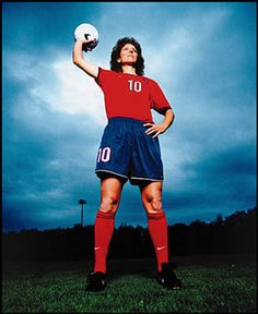 Michelle Akers...best female player of the century. This is the woman I hope to be when I'm older (look her up, you'll be amazed)