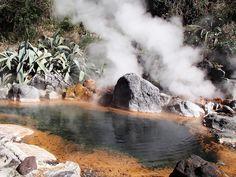 Yama-Jigoku.Beppu Jigoku-Meguri (hot springs), Oita Japan.