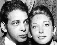 O estilista Dener e Maria Stela.
