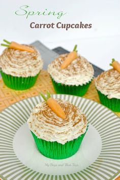 Simple Spring Carrot Cupcakes