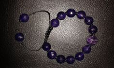 Natural faceted purple amethyst adjustable by Druzyfloozy on Etsy