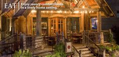 Harvest on Main restaurant in Downtown Blue Ridge.  Beautiful architecture, inviting atmosphere, and impeccable food!