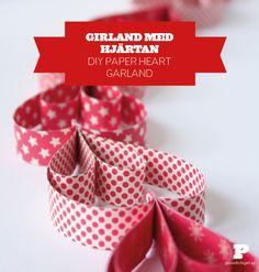 Girland med hjärtan / DIY Paper heart garland - Pysselbolaget
