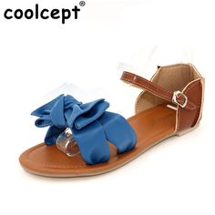 Coolcept women ankle bohemia strap flat sandals brand sexy fashion ladies footwear heels shoes P11904 hot sale EUR size 31-41 #Affiliate