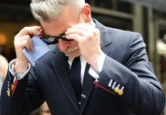 Nick Wooster, probably the most stylish man in the world. Tommy Ton's Street Style: New York Fashion Week Spring 2013: Style: GQ