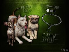 ○● DOWNLOAD for PUPS ●○○● DOWNLOAD for CATS ●○ *New Meshes*- necklace category - 3 swatches - unisex - all LOD's - for pups and cats - HQ t