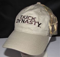 2b955b4cb2d Hats   Lids · DUCK DYNASTY TAN CAMO HAT EMBROIDERED VELCRO BACK EUC A amp E  OUTDOOR CAP  AEDuckDynasty