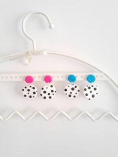 Spotty Handmade Clay Earrings Picka dot Earrings Spotty   Etsy Earrings Photo, Clay Earrings, Dangle Earrings, Simple Earrings, Statement Earrings, Black And White Earrings, Earring Tree, Minimalist Earrings, Earrings Handmade