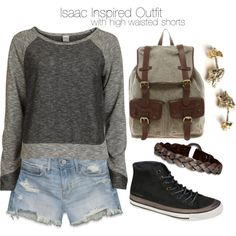 """""""Isaac Inspired Outfit with High-Waisted Shorts"""" by veterization on Polyvore"""