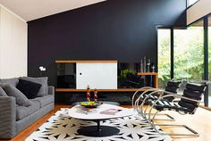 30 Exquisite Black Wall Interiors for a Modern Home - https://freshome.com/2011/09/14/30-exquisite-black-wall-interiors-for-a-modern-home/