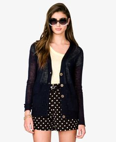 Essential Open Knit Cardigan | FOREVER21 - 2017306719