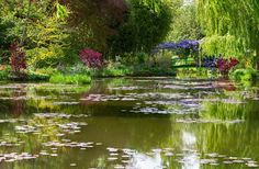 Schilder Claude Monet woonde in Giverny met zijn prachtige tuin met vijvers met waterlelies. (Eure)