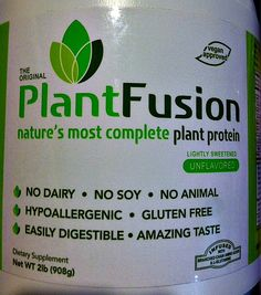Before Original Plant Fusion There Was No Safe Protein Powder I Could Recommend To My Clients or Use Myself. Fibro-Girl
