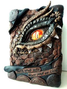 Dragon Eye Polymer Clay Box by SuSaBe